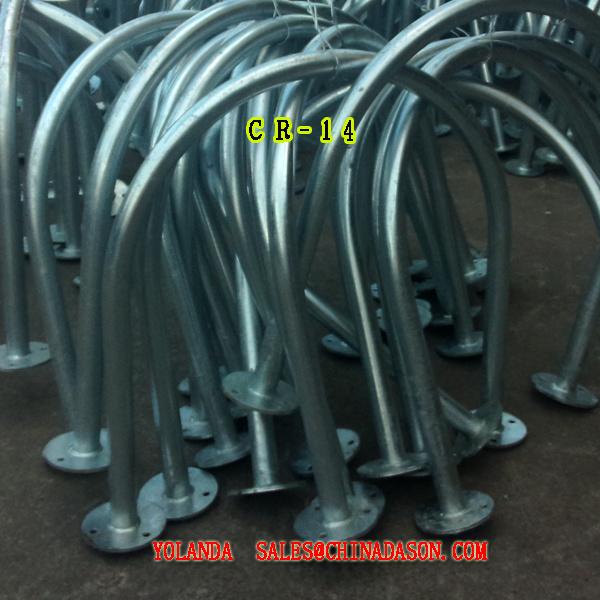 Metal Ground-Mounted Bike Rack Cr14