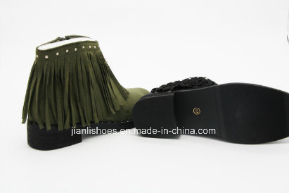 Sexy Tassels Rivet Ankle Boots for Fashion Lady (AB603)