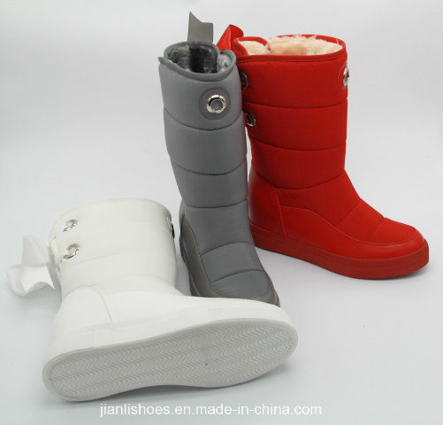 Soft Fur Wool Winter MID-Calf Boots with Bowknot Decoration (BT702)