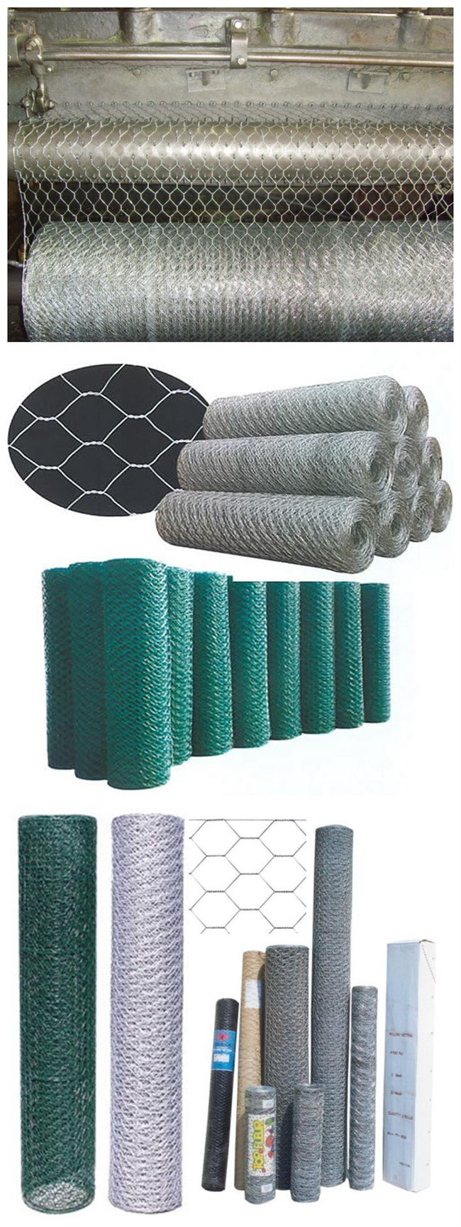 CE, SGS, RoHS Marks High Tensile Galvanized PVC Coated Hexagonal Wire Mesh (Anjia-106)