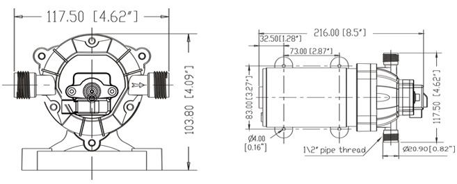 Pompe Eau Pompe Dc Seaflo 1 6gpm Pompe Pulv Risation
