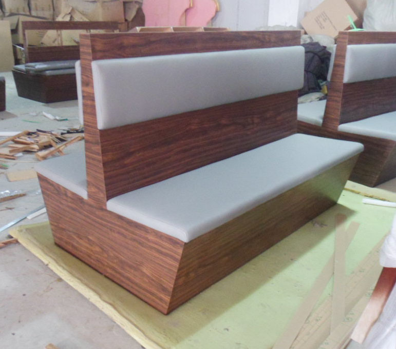 China restaurant furniture booth china restaurant booth for Mesas de madera bar