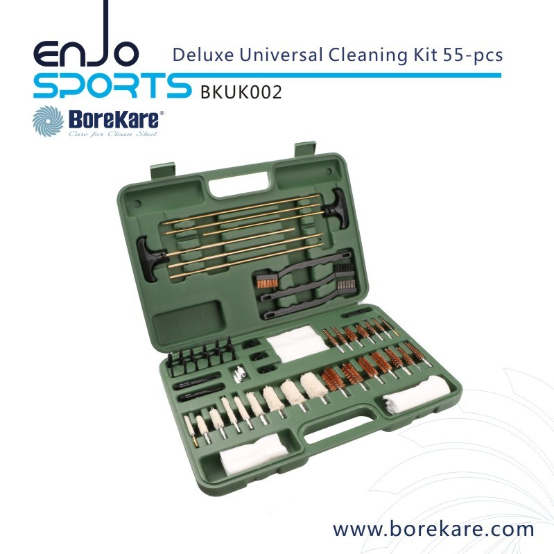 Wash Enjo Cloths: Borekare 55-PCS Deluxe Universal Gun Cleaning Kit From