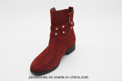 Lady European Style Chukka Metal Buckle Ankle Winter Casual Boots (AB615)