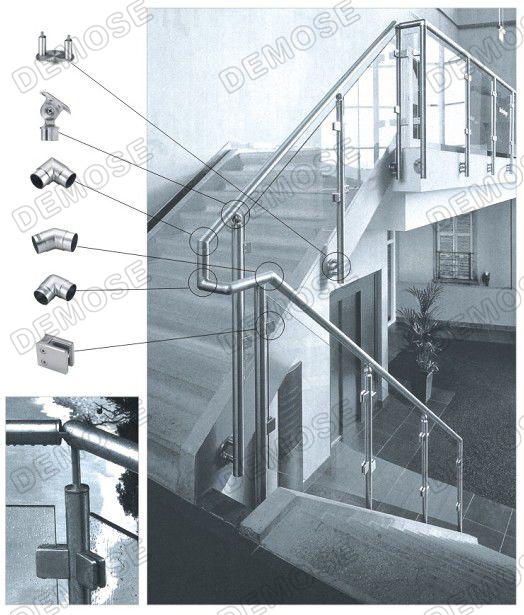 Acciaio inossidabile Vetro Balcone Ringhiera (DMS-B21135A) ? Acciaio ...