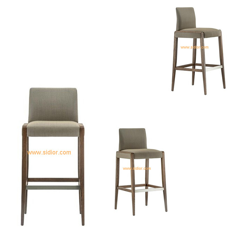 (SD-1008B) Modern Hotel Restaurant Club Furniture Wooden High Barstool Chair