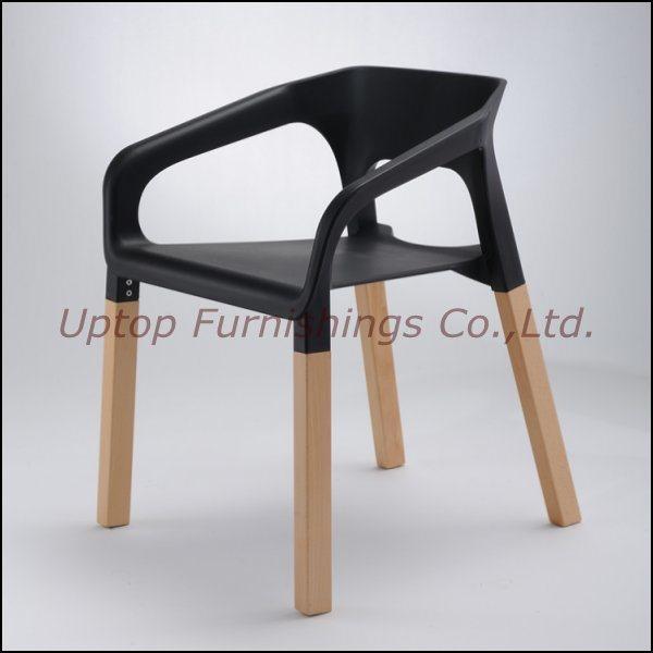 De kleurrijke houten plastic stapelbare stoel van het wapen sp uc001 de kleurrijke houten - Houten plastic stoel ...