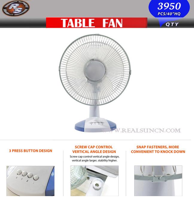 Desk Fan Dimensions : China electric desk fan table in size inch