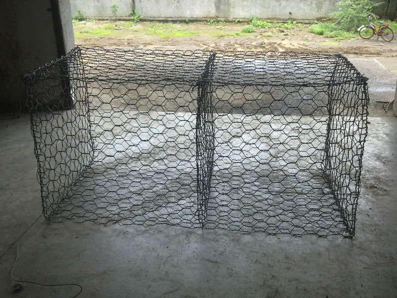 Buy gabion box basket pvc coated or galvanized