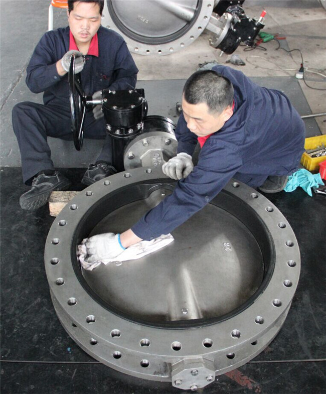 China large diameter gear box u type double flange
