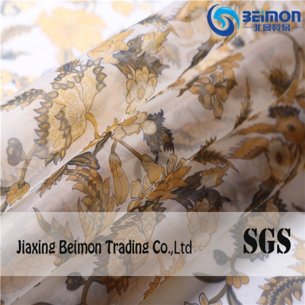 Popular 100%Polyester Printed Organza Cloth Fabric