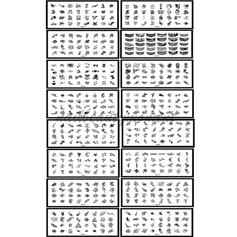 Nail Art Plates Pelat Gambar Nail Stamping Plate (SNA10)