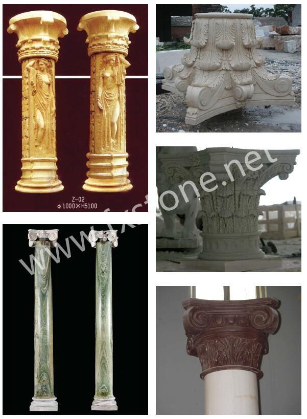 Columna de m rmol columna romana columna de piedra - Columna de marmol ...