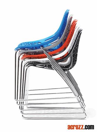변덕 의자 Sleigh 다리를 식사하는 쌓을수 있는 플라스틱 대중 ...