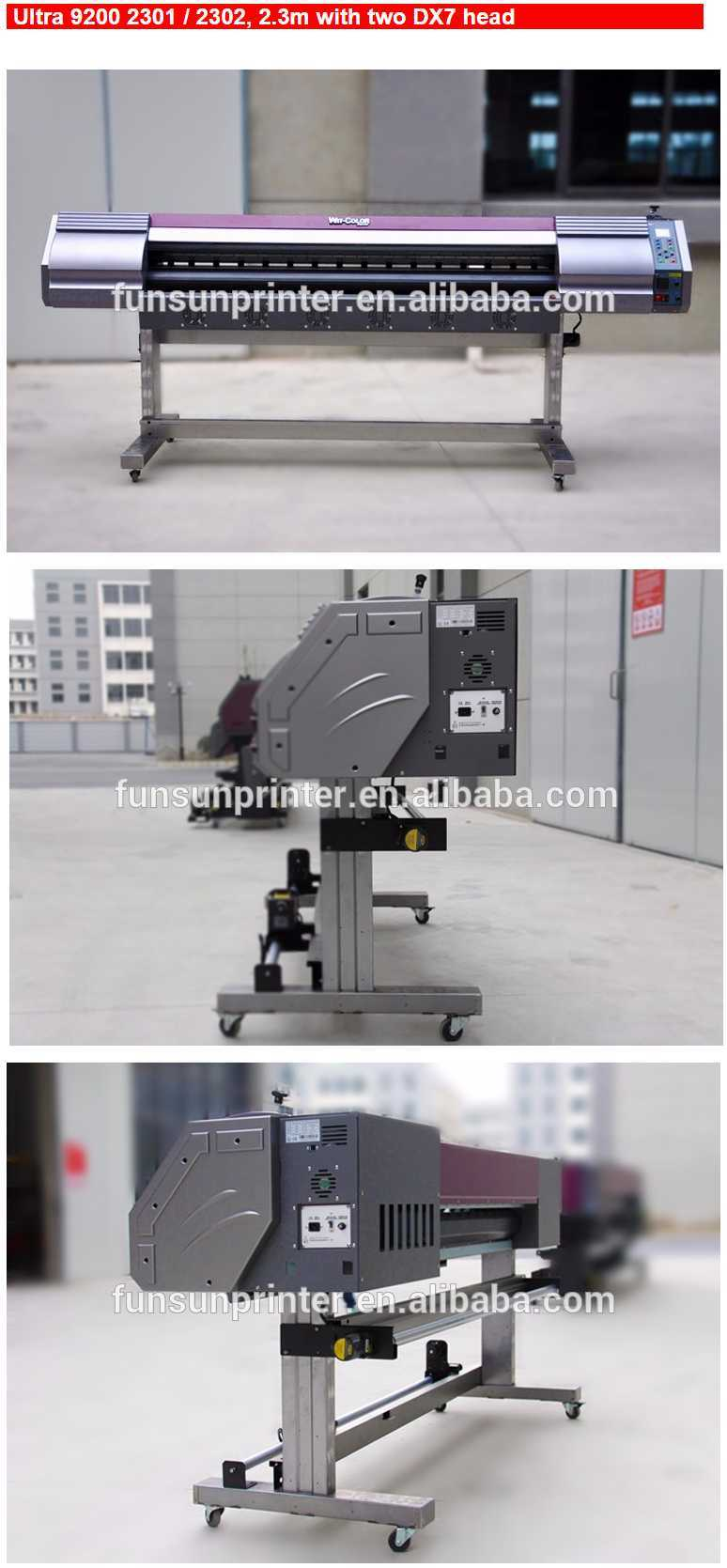 china high quality wit color brand eco solvent printer ultra 9200