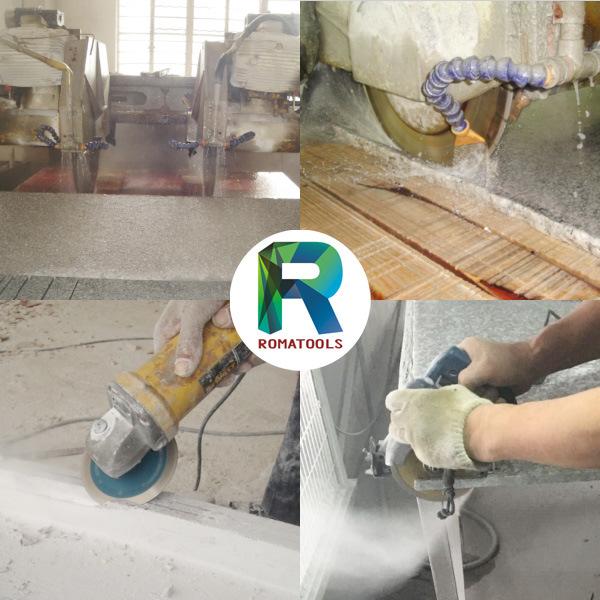 Romatools Diamond a Type Blades - Protective Segments
