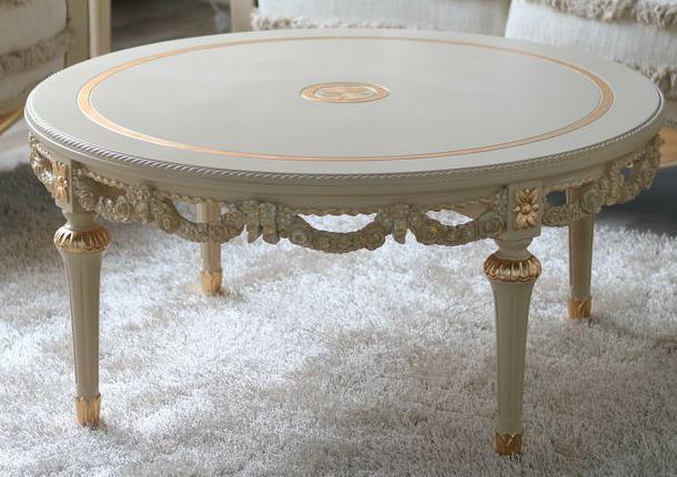 Tavolino da salotto classico di lusso europeo di legno for Mobilia domestica