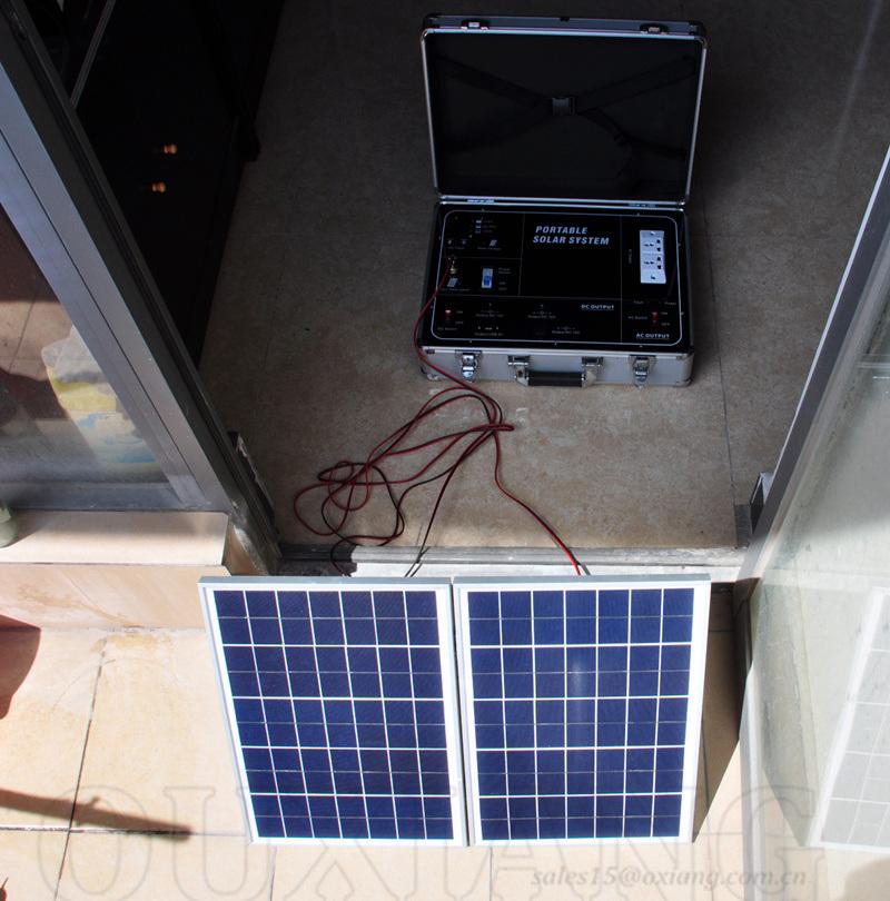 500w solar energy portable solar power generator solar power source 220v 500w solar energy - Panneau solaire 220v ...