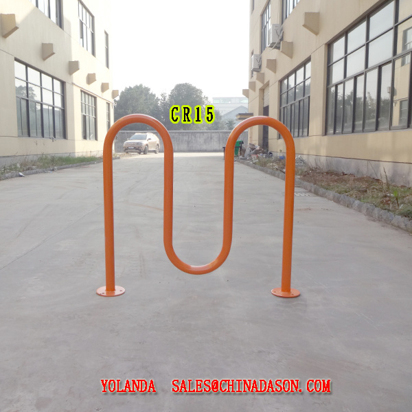 Metal Ground-Mounted Bike Rack Cr15