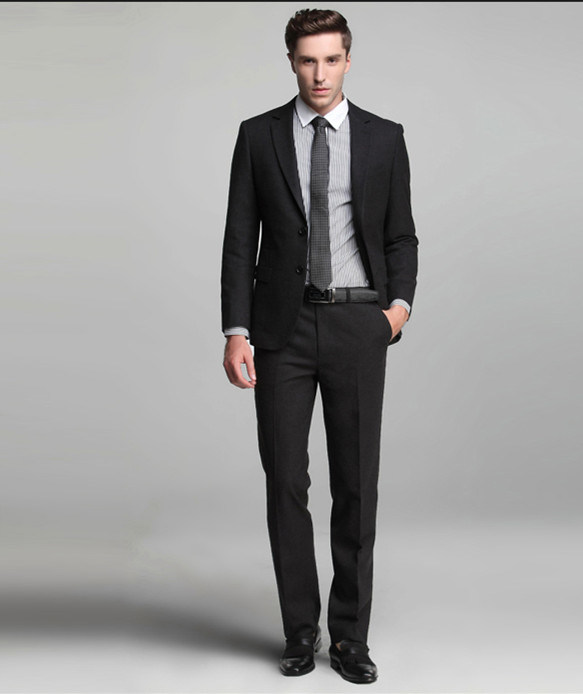 China Business Custom Made Black Men Suit - China Business Suit ...