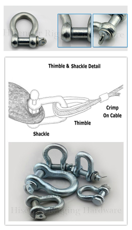Zinc Plated JIS Type Free Forged Bow Shackle for Marine Hardware