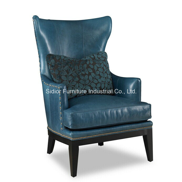 (CL-2207) Antique Hotel Lobby Furniture Wooden Leisure Arm Chair