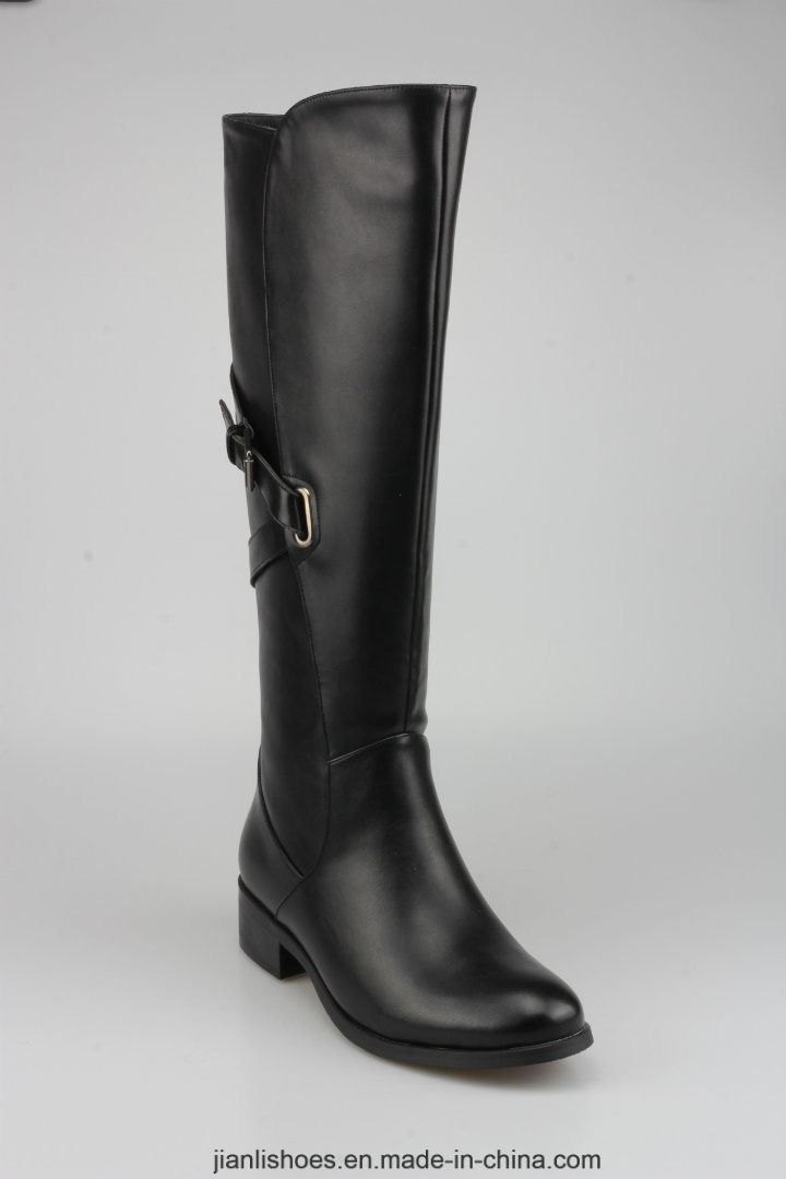 2018 Classic Style PU Knee-High Women Boots with Sexy Decoration (BT759)