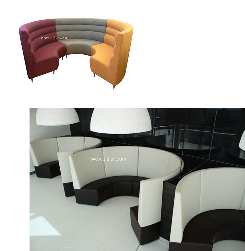 (SD-4006) Modern Hotel Restaurant Dining Furniture Wooden Booth Sofa