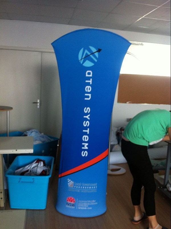 Stretch Fabric Exhibition Stands : China stretch fabric banner stands for supermarket