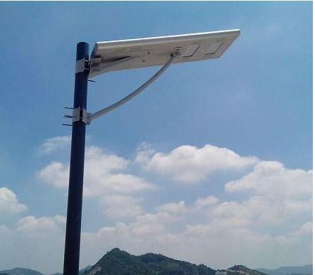 Integrado Solar Luz All in One Inteligente Solar Poste com sensor de movimento para iluminação solar do jardim
