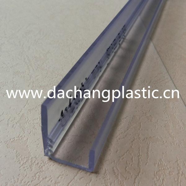 China Clear Pvc Plastic Gripper Clip Profile China