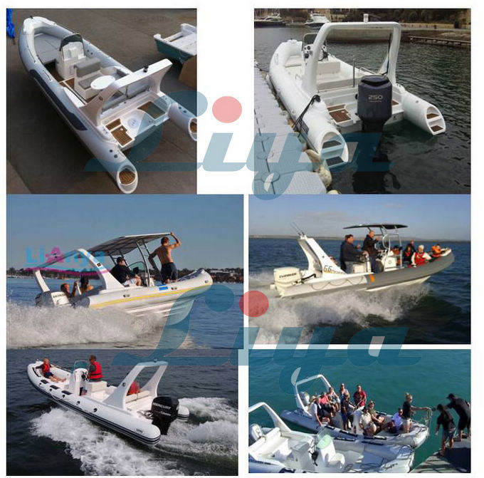 Liya 6.6m Inflatable Rib Hypalon Boats for Sale