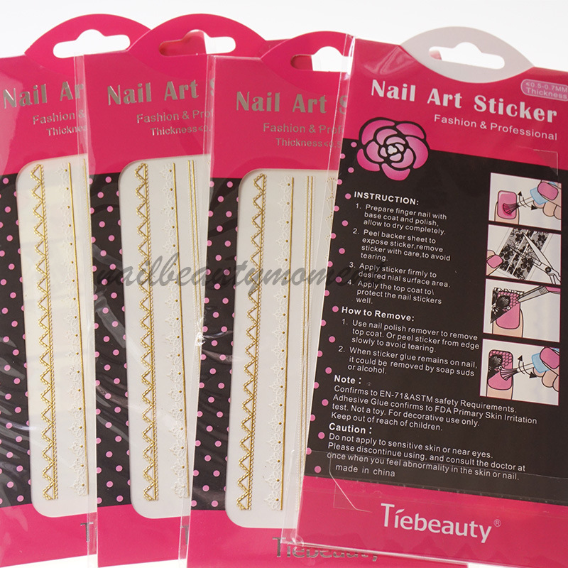 Nail Art 3D Lace Decoration Accessories Produk Kecantikan (NPP04)