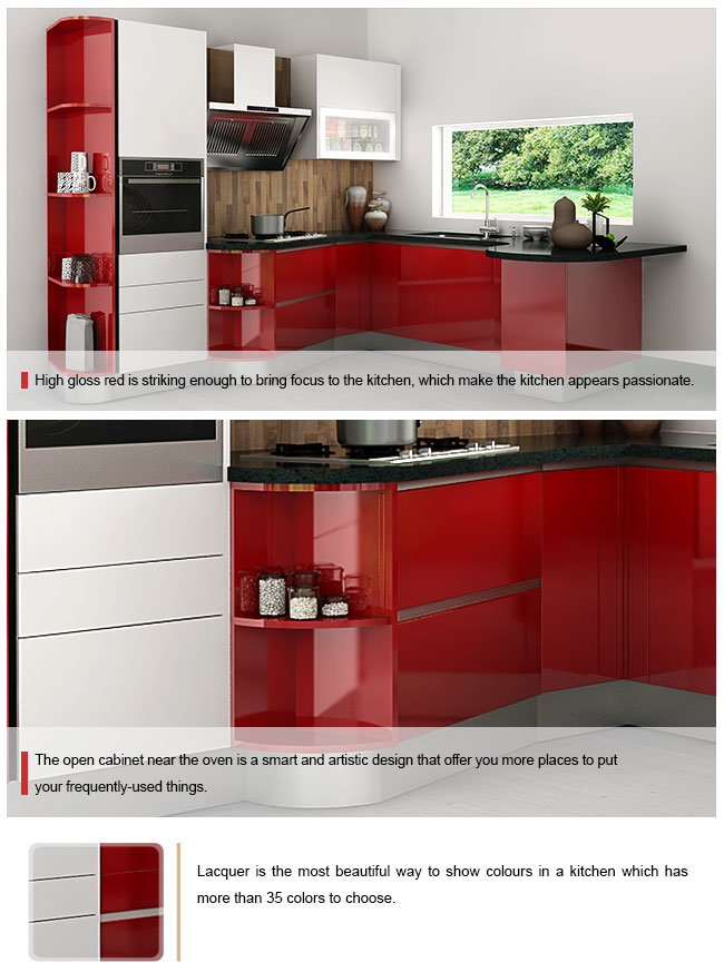 China kenya modern red lacquer wooden modular wholesale for Kitchen cabinets kenya