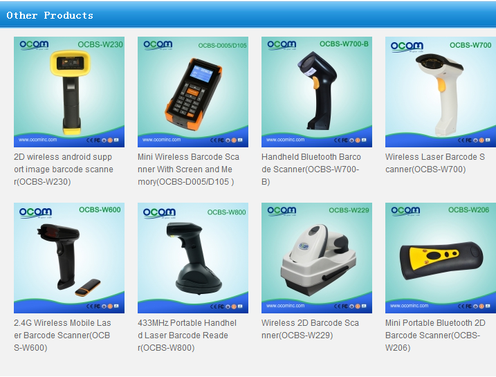China Factory Bluetooth Wireless Laser Barcode Scanner
