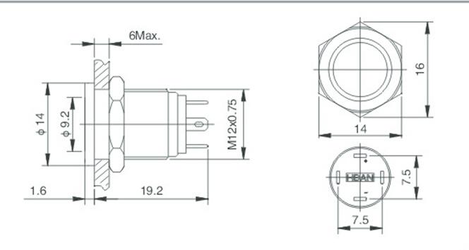 china hban new type ce rohs  12mm  hyperplane flat round