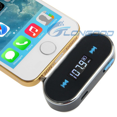 3.5mm Jack FM Transmitter for iPhone, Samgsung and Other Phone