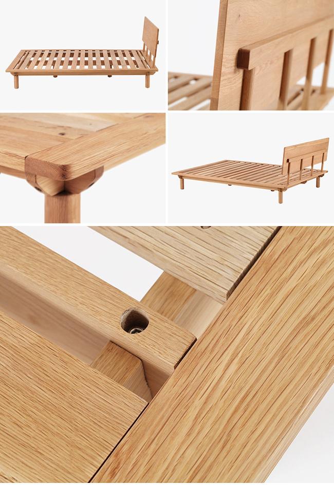 China antique modern oak bedroom solid wood set