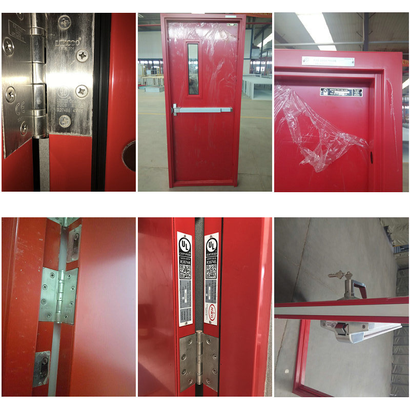 China ul whi listed steel fire door for emergency for 1 hour fire door specification