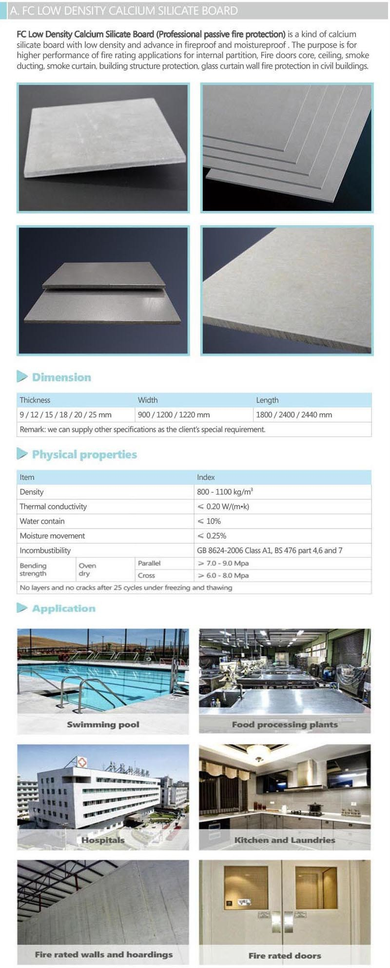 Calcium Silicate Sheet : China calcium silicate sheets for interior wall board