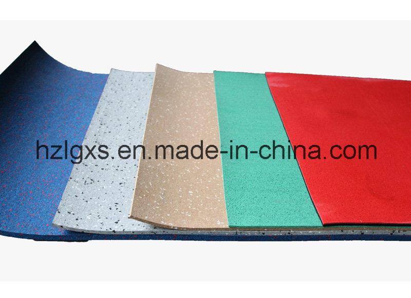 China Epdm Flecks Rubber Floor Roll Mat Tile For Gym