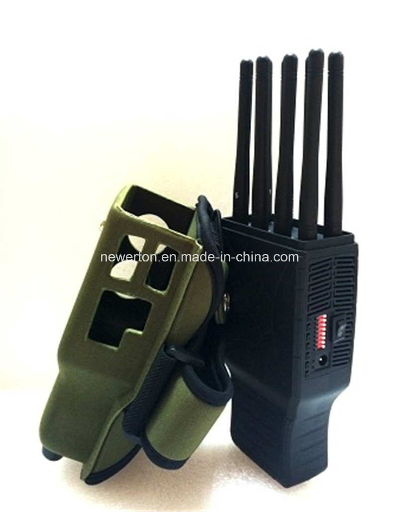 Signal blocker Menai - Portable LCD Screen 6-Antennas 3G GPS Lojack WIFI Jammer CellPhone Jammer