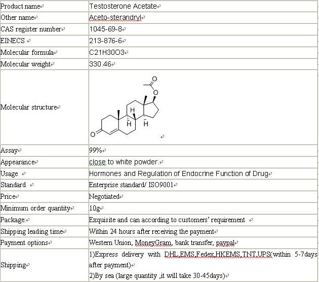 Testosterone Acetate CAS 1045-69-8