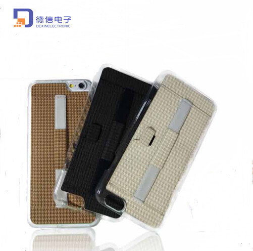 PU Leather and PC Shell Phone Case for iPhone6 (C001)