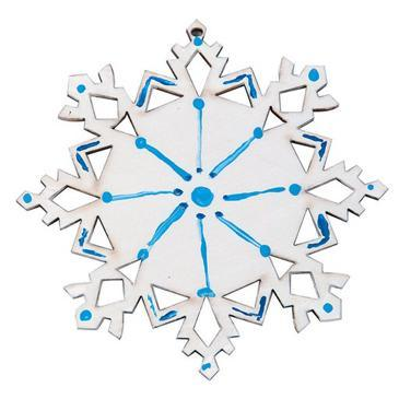 Wood Snowflake Craft Kit (makes 12) (GP2180)