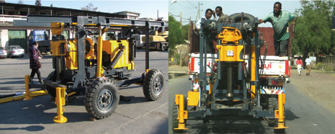 XYT-2B trailer mounted drilling rig core drilling machine