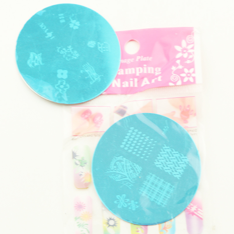 Nail Stamping Disc Nail Art Image Plates with Different Designs
