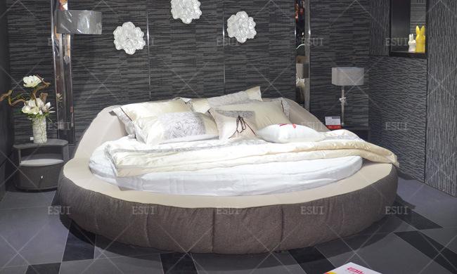 Le nouveau lit circulaire de tissu de meubles de chambre à coucher de modèle