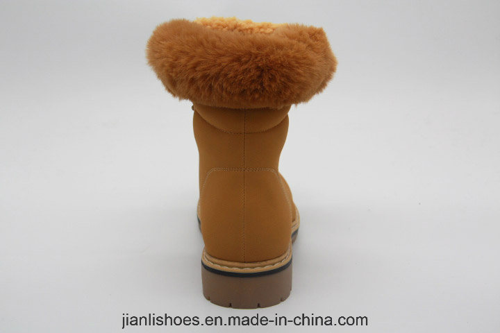 2018 Popular Fashionable Soft Fur Wool Winter Boots with Rivet (AB634)