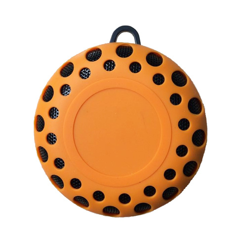 Outdoor Waterproof Rain-Resistant Wireless Bluetooth Speaker with a Latch Hook Yellow